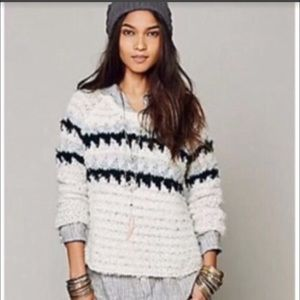 Free People Fair Isle Scoop Neck Sweater